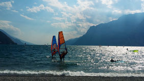 Wind Surf su Lago di Garda Riva Del Garda royalty free stock photos