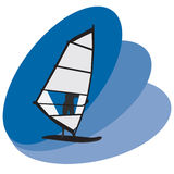 Wind surfer. Illustration- wind surfer vector illustration