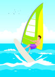 Wind Surfer vector illustratie