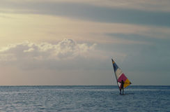 Wind Surfer. Wind Sufer on a calm ocean royalty free stock photography