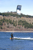 Wind surfer riding the wind, Hood river OR. Stock Images