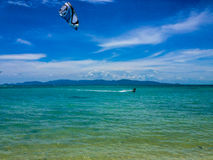 Wind surfer in tropical water Stock Image