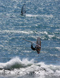 Wind Surfers Stock Photo
