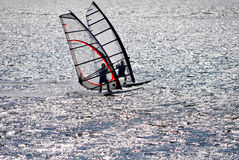 Wind surfing Stock Images