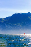 Wind Surfing in Riva Del Garda royalty free stock photo