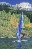 Wind Surfing in Telluride Stock Image