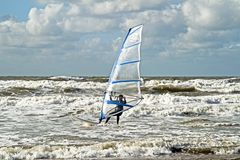 Wind surfing at Zandvoort aan Zee Netherlands Stock Photo