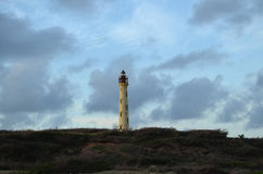 Wind Swept Views of the California Lighthouse in Aruba Royalty Free Stock Images