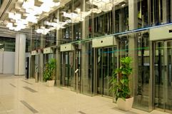 wind szklanego centrum handlowego nowy zakupy Obrazy Stock