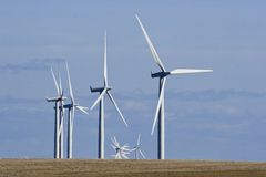 Wind-Tausendstel-Bauernhof Lizenzfreie Stockfotografie