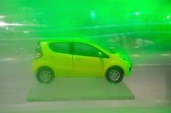 Wind Test Hatchback Car Model Stock Image