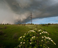 Wind and thundercloud Royalty Free Stock Photography
