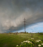 Wind and thundercloud Stock Photo