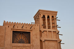 Wind Tower. Arabic Traditional Wind Tower in Dubai Royalty Free Stock Photo