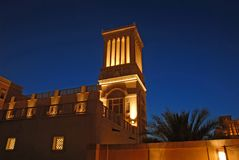 Wind tower. Arabic house with wind tower Stock Photography