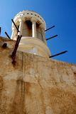 Wind tower. Round wind tower in sharjah museum Royalty Free Stock Photos