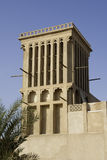 Wind tower, Dubai. A wind tower, an answer to sustainable Architecture Royalty Free Stock Photos