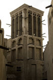 Wind Tower, Dubai. Traditional Arabic architecture, wind tower, Dubai, UAE Royalty Free Stock Photo