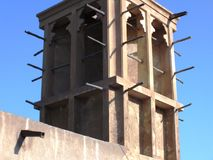 Wind tower in Old Dubai Royalty Free Stock Photos
