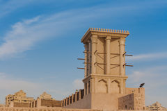 Wind tower in Sharjah Stock Photos