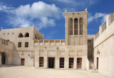 Wind tower of Sheikh Isa Bin Ali old house. Wind tower to collect and transfer air in the room Stock Image