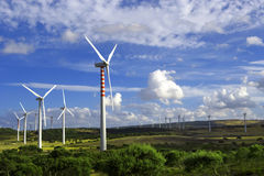 Wind towers Royalty Free Stock Photography