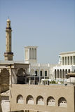 Wind towers And Minaret Of The Grand Mosque Royalty Free Stock Images
