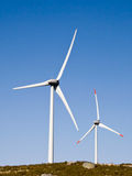 Wind towers in natural environment Stock Images
