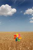 Wind toy at field Stock Photography