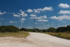 Wind trubines Royalty Free Stock Images