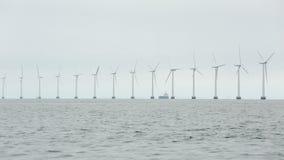 Wind tubines stock video footage