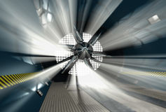 Wind tunnel for car test. With light on background Stock Image