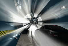 Wind tunnel for car test Royalty Free Stock Photography