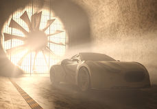 Wind Tunnel Concept Car Royalty Free Stock Images