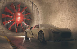 Wind Tunnel Concept Car Stock Images
