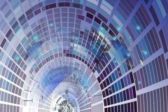 Wind tunnel technology computer digital telecom, Modern art back vector illustration