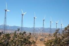 Wind turbine 1. Group of wind turbines stock images