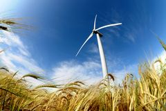 Wind turbine. Renewable energy source Royalty Free Stock Photography