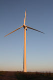 Wind turbine. Wind powered turbine in late afternoon sun Stock Images