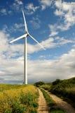 Wind turbine. Renewable energy source stock images