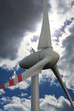 Wind turbine. Windmill to produce clean energy in Poland royalty free stock photos