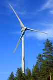 Wind turbine. With blue sky in the background Stock Image