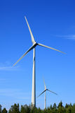 Wind turbine. S with blue sky in the background Royalty Free Stock Images