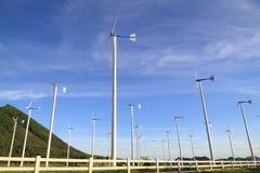 Wind turbine. Farm in thailand Royalty Free Stock Photos
