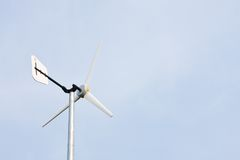 Wind turbine. S, one in the sky in clear weather Stock Photos