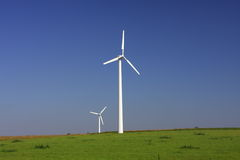 Wind turbine. Windmill to produce clean energy in Poland stock image