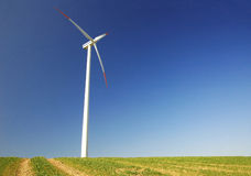Wind turbine. In Clear Blue Sky Royalty Free Stock Images