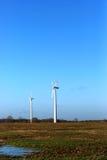 Wind turbine. S in green fields Stock Photos