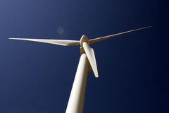 Wind Turbine. Zoom on the top of a wind turbine Royalty Free Stock Images