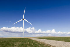 Wind Turbine. A wind turbine in a farmers field Royalty Free Stock Photos